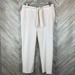 NWT Worthington crop pants with tie size 10
